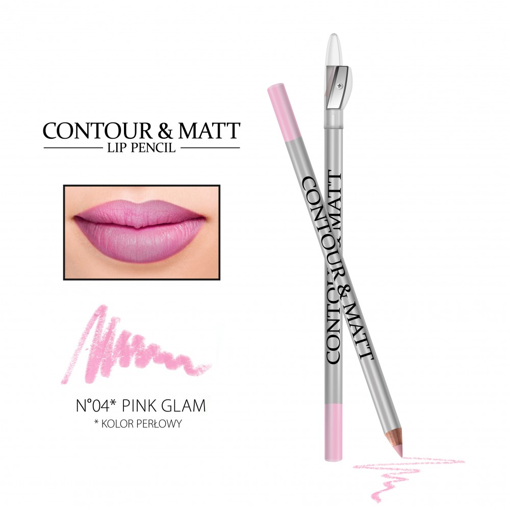 REVERS Lip pencil CONTOUR & MATT no 04 Pink Glam (pearl)