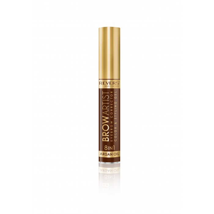 REVERS Eye brow corrector BROW ARTIST 8in1 argan oil - Dark Brown