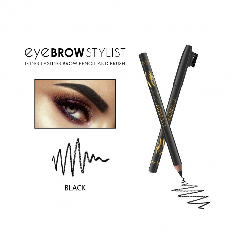 REVERS Wooden eye brow pencil EYE BROW STYLIST -BLACK