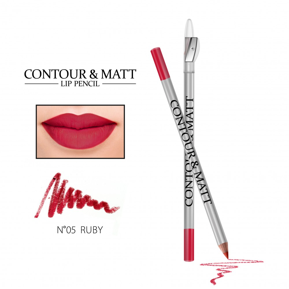 REVERS Lip pencil CONTOUR & MATT no 05 Ruby