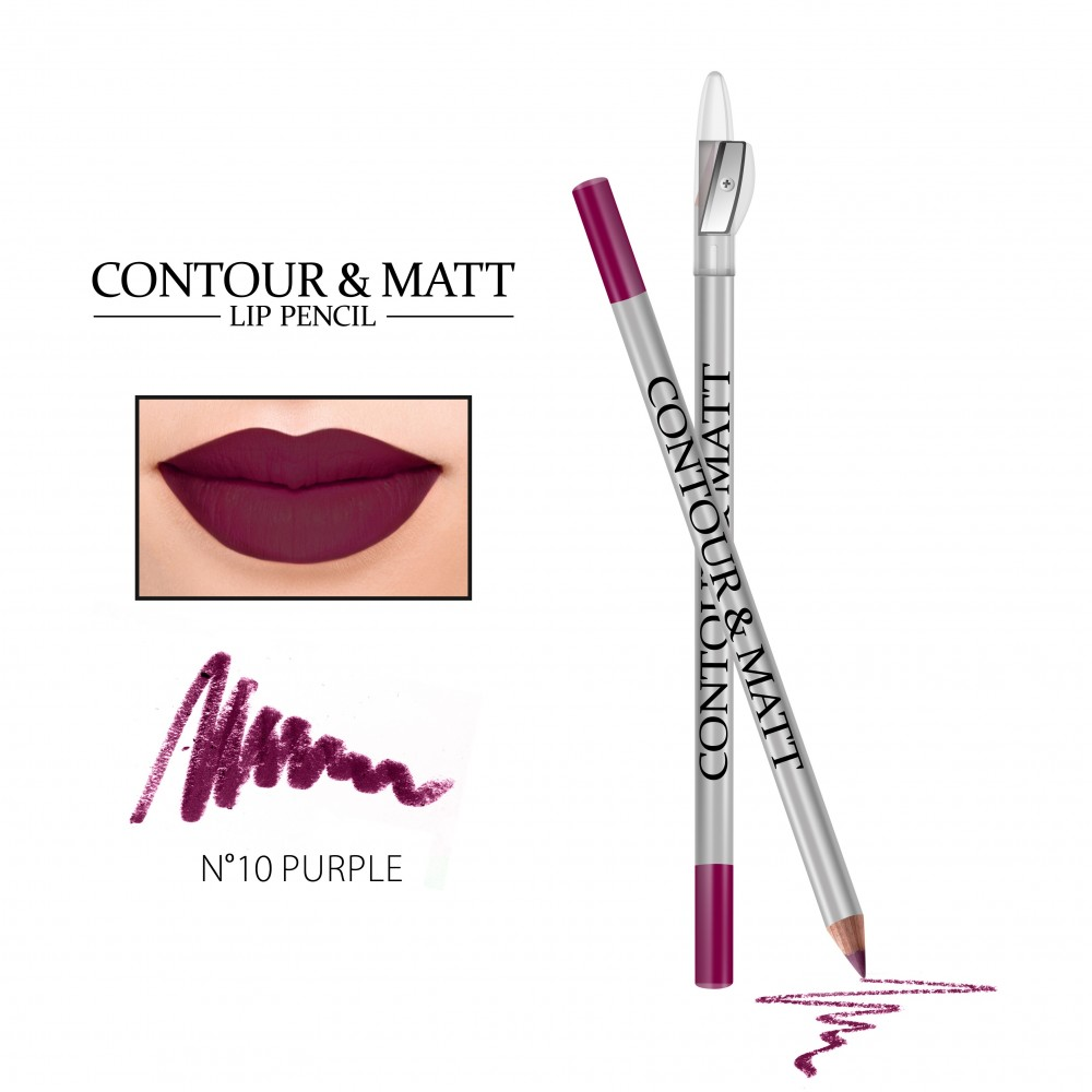 REVERS Lip pencil CONTOUR & MATT no 10 Purple